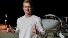 Indosport - Matthijs de Ligt saat tiba di Kota Turin
