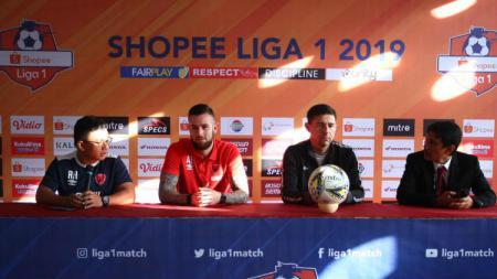 Konferensi Pers PSM Makassar sebelum melawan Persebaya Surabaya pada pekan kesembilan Shopee Liga 1 2019. - INDOSPORT