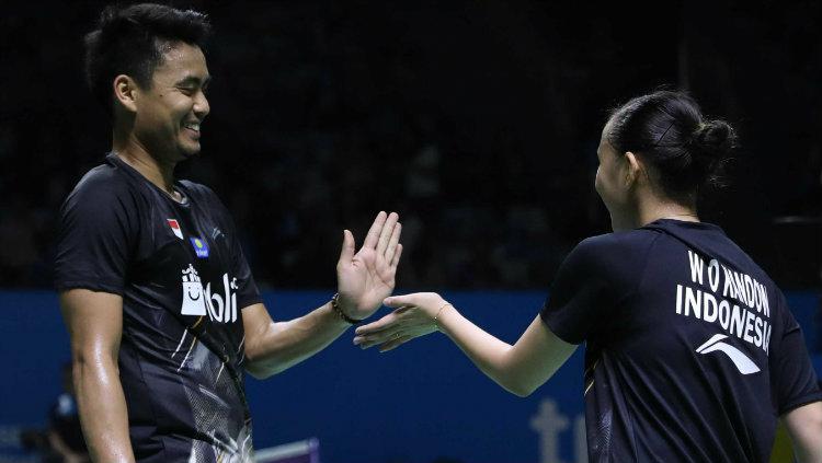 Tontowi Ahmad/Winny Oktavina di babak pertama Indonesia Open 2019. Copyright: Humas PP PBSI