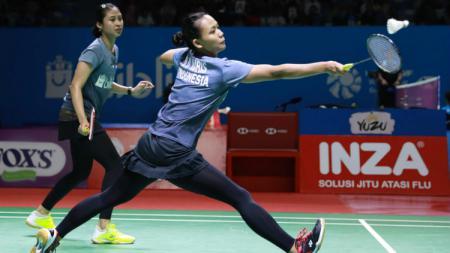 Pertandingan final bulutangkis Vietnam Open 2019 telah usai. Wakil Indonesia di ganda putri, Della Destiara Haris/Rizki Amelia Pradipta keluar sebagai juara. - INDOSPORT