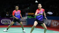 Indosport - Pasangan ganda campuran Indonesia, Hafiz Faizal/Gloria Emanuelle Widjaja berhasil raih kemenangan perdana di BWF World Tour Finals 2019.