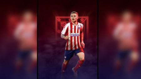Kieran Trippier mengaku senang bisa bermain di Atletico Madrid. - INDOSPORT