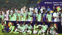 Indosport - Selebrasi para pemain Timnas Nigeria
