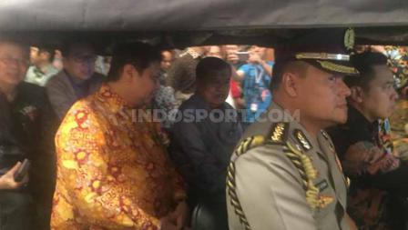 Wakil Presiden RI, Jusuf Kalla, turut menghadiri dan membuka acara Gaikindo Indonesia Internasional Auto Show (GIIAS) 2019. Foto: Petrus Manus Da'Yerimon/INDOSPORT