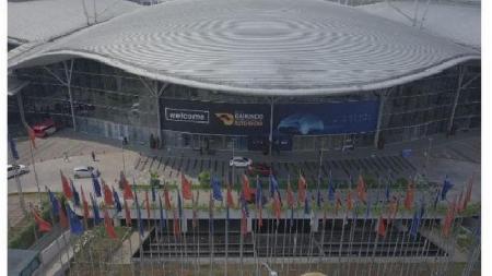 Pelaksanaan GIIAS 2019 di International Covention Exhibition Bumi Serpong Damai. - INDOSPORT