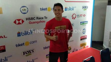 Tunggal putra Indonesia, Jonatan Christie. Foto: Zainal Hasan/INDOSPORT - INDOSPORT