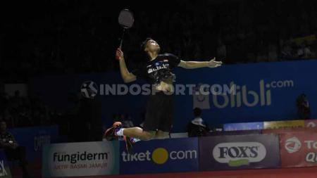 Tunggal putra Indonesia, Anthony Ginting. Foto: Herry Ibrahim/INDOSPORT. - INDOSPORT