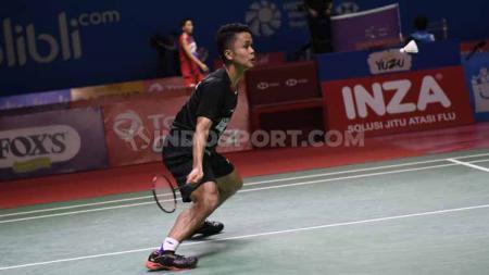 Tunggal putra Indonesia, Anthony Ginting. Foto: Herry Ibrahim/INDOSPORT - INDOSPORT