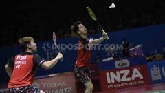 Indosport - Sebuah kejutan kembali terjadi di turnamen Korea Masters 2019, di mana pasangan, Kevin Sanjaya/Marcus Gideon diturunkan PBSI di turnamen tersebut.
