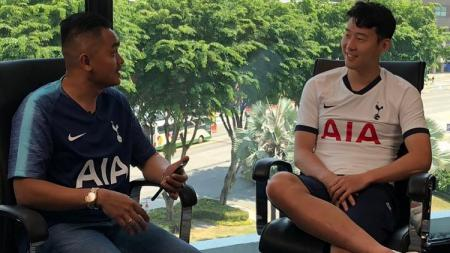Valentino Simanjuntak mewawancarai eksklusif bintang Tottenham Hotspur Son Heung Min jelang ICC 2019 - INDOSPORT