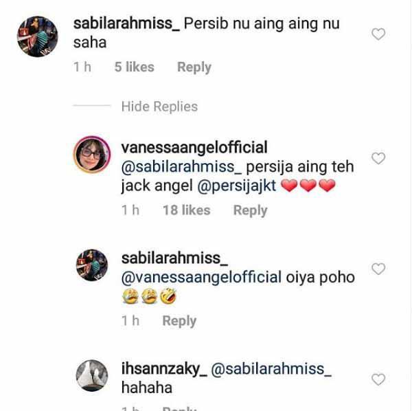 Vanessa Angel akui pendukung Persija Jakarta Copyright: Persija Jakarta