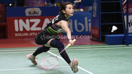 Meski harus bersusah-payah, Goh Liu Ying bersama Chan Peng Soon berhasil mengalahkan Tontowi Ahmad/Winny Oktavi. Foto: Herry Ibrahim/INDOSPORT