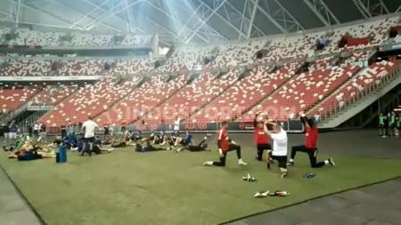 Sesi latihan Manchester United jelang lawan Inter Milan di International Champions Cup (ICC) 2019. - INDOSPORT