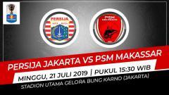 Indosport - Pertandingan Persija Jakarta vs PSM Makassar.