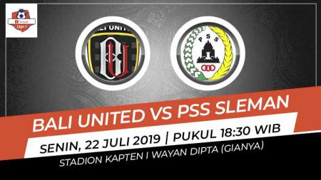 Pertandingan Bali United vs PSS Sleman. - INDOSPORT