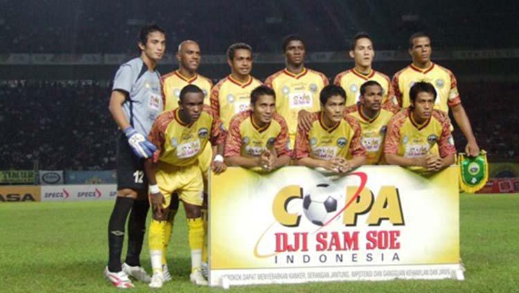 Sriwijaya FC kala berlaga di Copa Indonesia 2007. Copyright: sriwijayafc1.wordpress.com