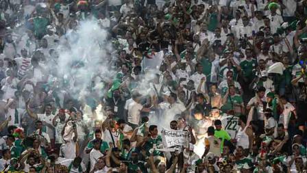 Pesta dari pendukung Timnas Aljazair saat mengetahui negara kesayangan mereka menjadi juara Piala Afrika 2019 usai bekuk Senegal