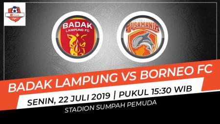 Link live streaming pertandingan Perseru Badak Lampung FC vs Borneo FC pada lanjutan Shopee Liga 1 2019, Senin (22/07/19), di Stadion Sumpah Pemuda. - INDOSPORT