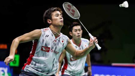 Pasangan bulutangkkis Jepang, Takuro Hoki/Yugo Kobayashi ciptakan sejarah di ranking dunia BWF. - INDOSPORT