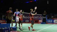 Indosport - Upadate rangking kualifikasi Olimpiade Tokyo 2020 pasangan ganda putra Indonesia, Kevin Sanjaya/Marcus Gideon diancam musuh besar yang sempat permalukan mereka di Kejuaraan Dunia Bulutangkis 2019.