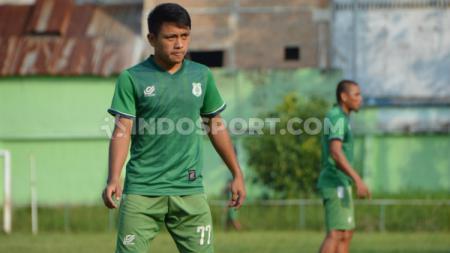 Pemain muda PSMS Medan, Natanael Siringoringo. (Aldi Aulia Anwar/INDOSPORT) - INDOSPORT