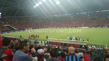 Suasana pertandingan International Champions Cup 2019 Manchester United vs Inter Milan, Sabtu (20/07/19). Theresia Simanjuntak/INDOSPORT. - INDOSPORT