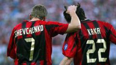 Indosport - Kaka dan Sheva di AC Milan