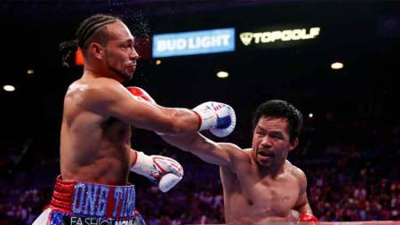 Manny Pacquiao memenangkan pertarungan melawan Keith Thurman, Minggu (21/07/19). - INDOSPORT