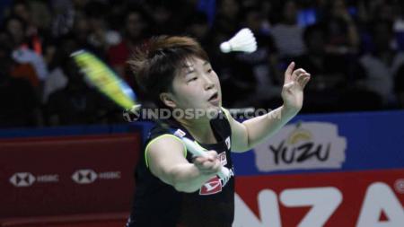 Pebulutangkis tunggal putri, Akane Yamaguchi, akhirnya berhasil menghapus dahaga gelarnya usai meraih gelar juara di Thailand Masters 2020. Foto: Herry Ibrahim/INDOSPORT. - INDOSPORT