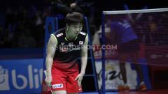 Indosport - Akane Yamaguchi berhasil menjadi juara sektor tunggal putri Indonesia Open 2019 usai mengalahkan tunggal India, P.V. Sindhu pada babak final dengan skor 21-16 dan 21-15 di Istora Senayan, Minggu (21/7/19). Foto: Herry Ibrahim/INDOSPORT