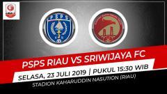 Indosport - Pertandingan PSPS Riau vs Sriwijaya FC.