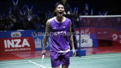 Indosport - Tunggal putra Taiwan, Chou Tien Chen berhasil menjadi juara sektor tungga putra Indonesia Open 2019 usai mengalahkan tunggal Denmark di babak final dengan skor 21-18, 24-26 dan 21-15 di Istora Senayan, Minggu (21/07/19). Foto: Herry Ibrahim/INDOSPORT