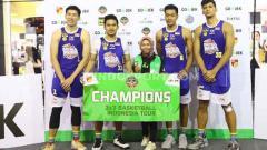 Indosport - Skuat Satria Muda saat menjuarai IBL 3x3 Yogya.