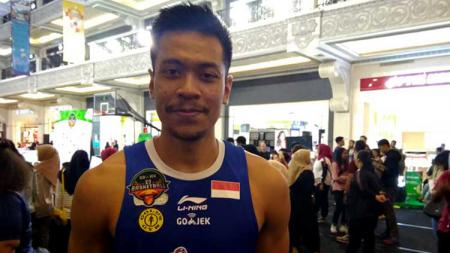 Pertama kalinya, Bintang Satria Muda Jakarta, Sandy Ibrahim dipanggil untuk bergabung dengan Timnas Basket Indonesia. - INDOSPORT