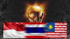 Indosport - Bendera Indonesia, Thailand, Malaysia dan Piala Dunia