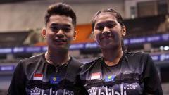 Indosport - Ganda campuran Leo Rolly Carnando dan Indah Cahya Sari Jamil bakal tampil di Kejuaraan Dunia Junior Bulutangkis 2019.