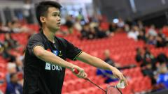 Indosport - Christian Adinata, pemain junior bulutangkis Indonesia.