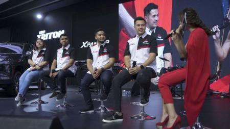 Potret Rifat Sungkar dalam peluncuran Xpander Rally Team di GIIAS 2019. - INDOSPORT