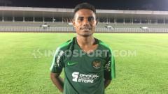Indosport - Krismon Wombaibobo, pemain Timnas Indonesia U-23 dari Persewar.