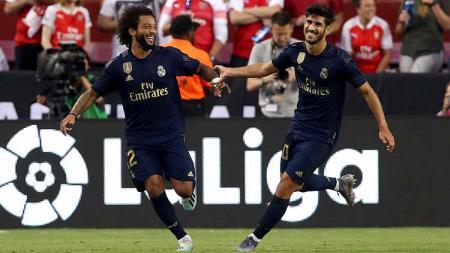 Bek Real Madrid, Marcelo larang klubnya merekrut pemain baru karena sudah yakin dengan komposisi tim saat ini. - INDOSPORT