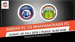 Indosport - Prediksi Arema FC vs Bhayangkara FC di Liga 1 2019.