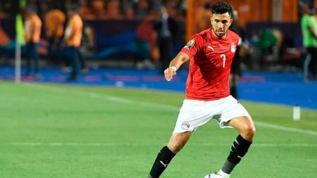 Mahmoud 'Trezeguet' Hassan, pemain Timnas Mesir yang kini bergabung dengan Aston Villa. - INDOSPORT