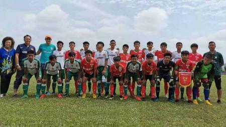 Timnas Pelajar U-16 yg berhasil meraih peringkat 2 dalam ajang International Youth Football Tournament di Wuzhou, Tiongkok. Foto: twitter@indoftblscout - INDOSPORT
