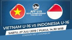 Indosport - Pertandingan Vietnam U-16 vs Indonesia U-16.