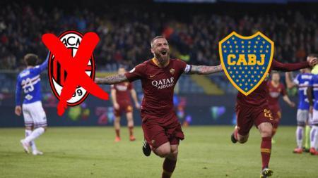 De Rossi bikin satu gol di laga debut dengan Boca Juniors. - INDOSPORT