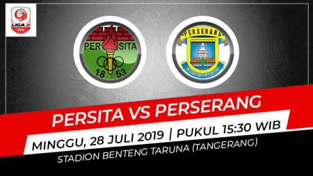 Pertandingan Persita Tangerang vs Perserang Banten. - INDOSPORT