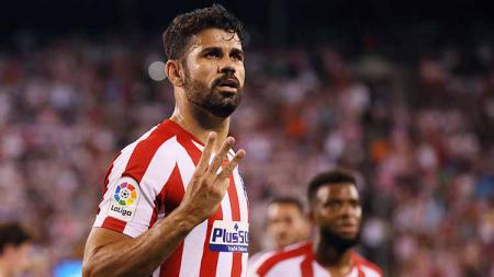 Striker Atletico Madrid, Diego Costa, nyaris membuat Barcelona alami ironi pada  pertandingan LaLiga Spanyol lanjutan. - INDOSPORT