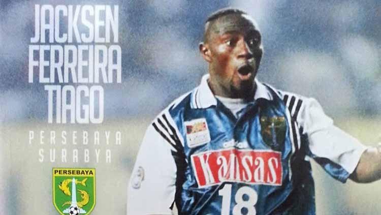 Jacksen F Thiago saat jadi pemain berseragam Persebaya Surabaya. Copyright: BOLA