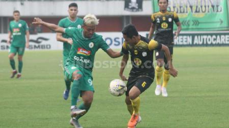 Laga pertandingan antara PSS Sleman vs Barito Putera di Liga 1, Sabtu (27/07/19). Foto: Ronald Seger Prabowo/INDOSPORT - INDOSPORT