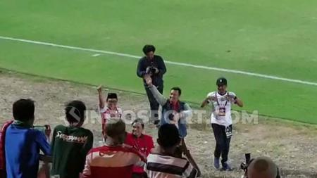 Menpora Imam Nahrawi turut hadir dalam pertandingan Madura United vs Perseru Badak Lampung - INDOSPORT
